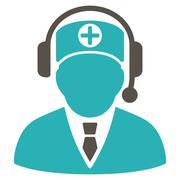 Medical Operator Icon - stock illustration