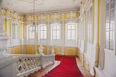 Neoclassical marble stairs in Rundale palace, Latvia Stock Photos