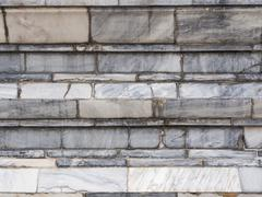 Broken marble wall, - stock photo