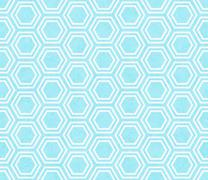 Teal and White Hexagon Tile Pattern Repeat Background Stock Illustration