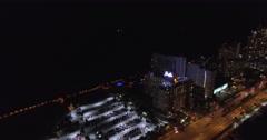 Eden Roc Miami Beach at night Stock Footage
