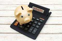 Calculating your Wealth Stock Photos