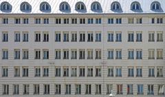 Repetitive Windows at Condo Building in Vienna Stock Photos
