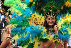 Samba dancers - stock photo