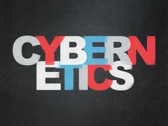 Science concept: Cybernetics on School Board background - stock illustration
