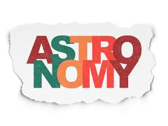 Stock Illustration of Science concept: Astronomy on Torn Paper background