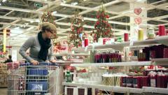 Christmas Chores - stock footage