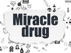 Healthcare concept: Miracle Drug on Torn Paper background - stock illustration