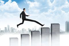 Long Leg Business Man Jumping Stock Photos
