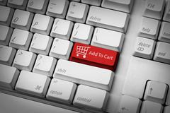 Add to cart button Stock Photos