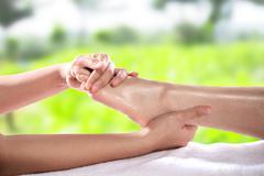 Healthy Foot Massage Stock Photos