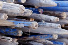 wooden rods - stock photo