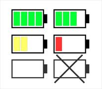 Illustration of  battery charge level - stock illustration