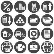 Banking icon set on white background Stock Illustration