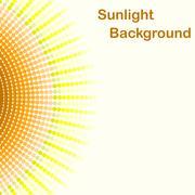 Colorful sunlight background, pentagon sunbeams - stock illustration