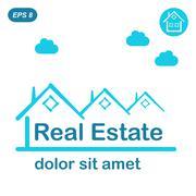 Real estate logo conception Stock Illustration
