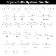 Organic buffer agents Stock Illustration