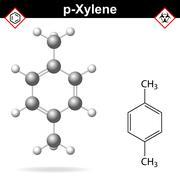 Xylene molecule, para-xylene isomer Stock Illustration
