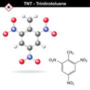 Trinitrotoluene - tnt explosive agent Stock Illustration