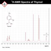 NMR spectrum example - stock illustration