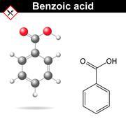 Benzoic acid structure Stock Illustration