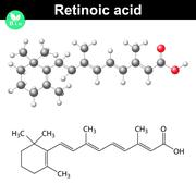 Retinoic acid structural chemical formula Stock Illustration