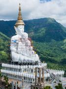 Wat Phra Dhat Phasornkaew at Phu tup berk Stock Photos