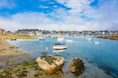 Port in Brittany - stock photo