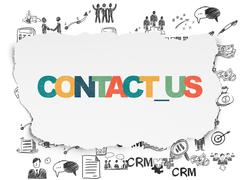 Business concept: Contact us on Torn Paper background - stock illustration