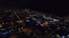 Aerial Miami Beach 5th Street intersection Stock Footage