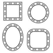 Stock Illustration of Set of Circle Decorative Frames