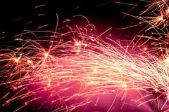Fire Sparks - stock photo