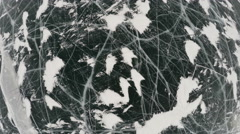 Stock Video Footage of Frozen lake covered with a thick layer of ice, aerial shot
