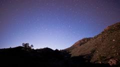 Night Stars and Moon Shadow Stock Footage