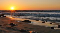 Beautiful sunset over Baltic sea Stock Footage