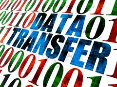 Stock Illustration of Information concept: Data Transfer on Digital background