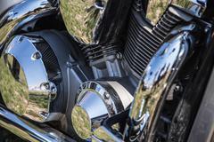 Sport bike or motorcycle engine - stock photo
