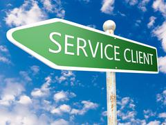 Stock Illustration of Service Client