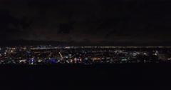Aerial Miami Beach night lights 19 Stock Footage