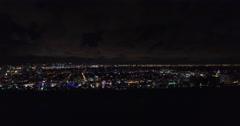 Aerial Miami Beach night lights 17 Stock Footage
