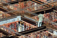 One man construction worker Stock Photos