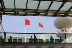 the Kai Tak Cruise Terminal is opened - stock photo