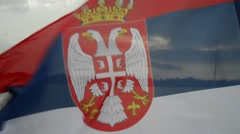 Serbian flag Stock Footage