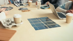 Solar energy meeting Stock Footage