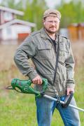Lawnmower man Stock Photos