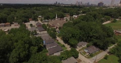 4K Aerial - Church Reveal downtown Stock Footage