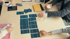 Solar energy sustainable business - stock footage