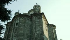 Monastery Manasija in their fortress. Built in the early 15th century. Stock Footage