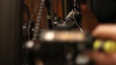 Transmission speed a bicycle and circuit - stock footage