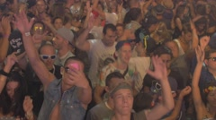 Rave party huge mass - stock footage
